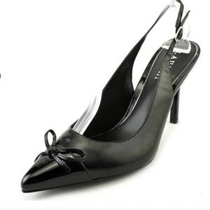 "RALPH LAUREN ""Sienna"" black pointed toe heels 10"